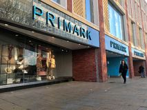 Primark store. Primark named Penneys in the Republic of Ireland is an Irish fast fashion retailer headquartered in Dublin, and a subsidiary of ABF. The company`s stock photography