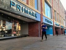 Primark store. Primark named Penneys in the Republic of Ireland is an Irish fast fashion retailer headquartered in Dublin, and a subsidiary of ABF. The company`s stock photos