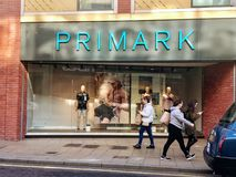 Primark store. Primark named Penneys in the Republic of Ireland is an Irish fast fashion retailer headquartered in Dublin, and a subsidiary of ABF. The company`s royalty free stock images