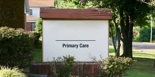 Primary Care Clinic. Is a general clinic with doctors, nurses, and other staff specifically trained to care for anyone stock photography