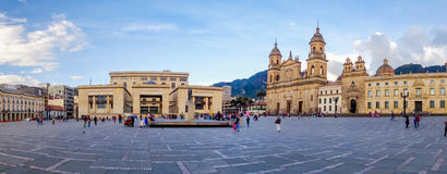 Primary Cathedral of Bogota, historic and religous Royalty Free Stock Images