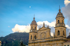 Primary Cathedral of Bogota, historic and religous. BOGOTA, COLOMBIA - FEBRUARY 9, 2015: Primary Cathedral of Bogota, historic and religous landmark, located in Stock Photos