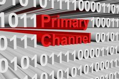 Primary channel. In the form of binary code, 3D illustration Stock Photo