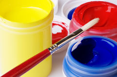 Primary Color Acrylic Artist Paint Stock Photo