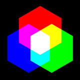 Primary color. Creative design of primary color Stock Image