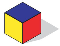 Primary color cube Stock Photography
