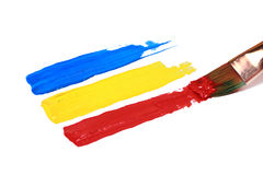 Primary Color Paint Strokes Royalty Free Stock Photo