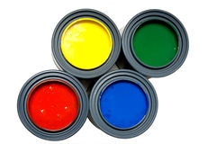 Primary color paints Royalty Free Stock Photography