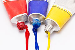 Primary Color Water Painted. Stock Images