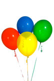 Primary Colored balloons stock photos