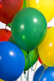 Primary Colored Party Balloons royalty free stock images