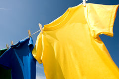 Primary Colored T-Shirts Royalty Free Stock Image