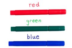 Primary colors Stock Photos