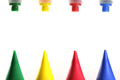 Primary colors. Green, yellow, red, blue royalty free stock image