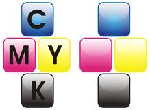 Primary colors color cmyk Stock Image
