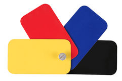 Primary colors. Isolated Royalty Free Stock Images