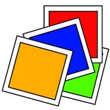 Primary Colors Paint Samples Stock Images