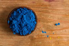 Primary colours: Blue. In painting and in traditional colour theory, blue is one of the 3 primary colours of pigments which can be mixed to create a wider gamut Royalty Free Stock Photography