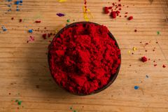 Primary colours: Red. In painting and in traditional colour theory, red is one of the 3 primary colours of pigments which can be mixed to create a wider gamut of Royalty Free Stock Photography