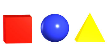 Primary Colours and Shapes Royalty Free Stock Photo