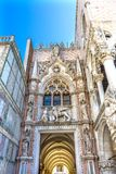 Primary Entrance Porta della Carte Palazzo Ducale Doge's Palace Venice Italy. Primary Entrance Porta della Carte Palazzo Ducale Doge& x27;s Palace Venice royalty free stock photos