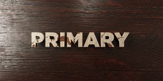Primary - grungy wooden headline on Maple  - 3D rendered royalty free stock image Stock Photos