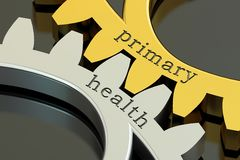 Primary Health, concept on the gearwheels, 3D rendering Stock Images