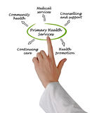 Primary health services. Presenting diagram of Primary health services Stock Images
