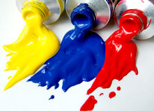 Primary Paints Stock Photography