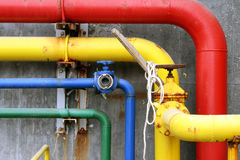 Primary pipework. Royalty Free Stock Photo