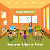 Primary School Classroom Template Royalty Free Stock Images