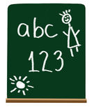 Primary school letters and numbers Royalty Free Stock Photography