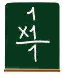 Primary school multiplication Stock Image
