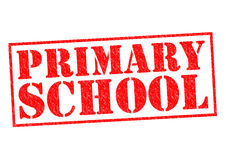 PRIMARY SCHOOL. Red Rubber Stamp over a white background Royalty Free Stock Images