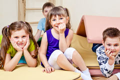 Primary school stidents Royalty Free Stock Photography