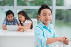 Primary school student Stock Images