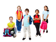 Primary school students royalty free stock image