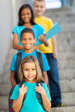 Primary school students royalty free stock photos