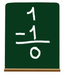 Primary school subtraction stock photography