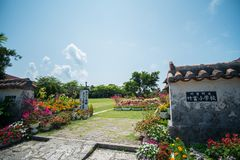 Primary school on Taketomi Island, Okinawa Prefecture Royalty Free Stock Photo