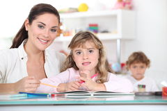 Primary school teacher royalty free stock image