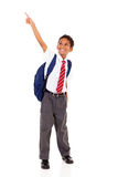 Primary schoolboy pointing Royalty Free Stock Photo
