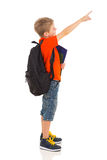 Primary schoolboy pointing Stock Image