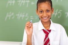 Primary schoolgirl Stock Images