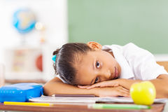 Primary schoolgirl resting royalty free stock photos