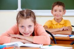 Primary student Royalty Free Stock Photo