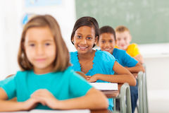 Primary students classroom. Group primary school students in classroom royalty free stock photos