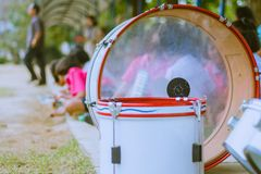 Primary Studentspractice the marching band. Primary Students Royalty Free Stock Photos