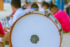 Primary Studentspractice the marching band. Primary Students Royalty Free Stock Photography