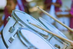 Free Primary Studentspractice The Marching Band. Stock Photography - 111755632